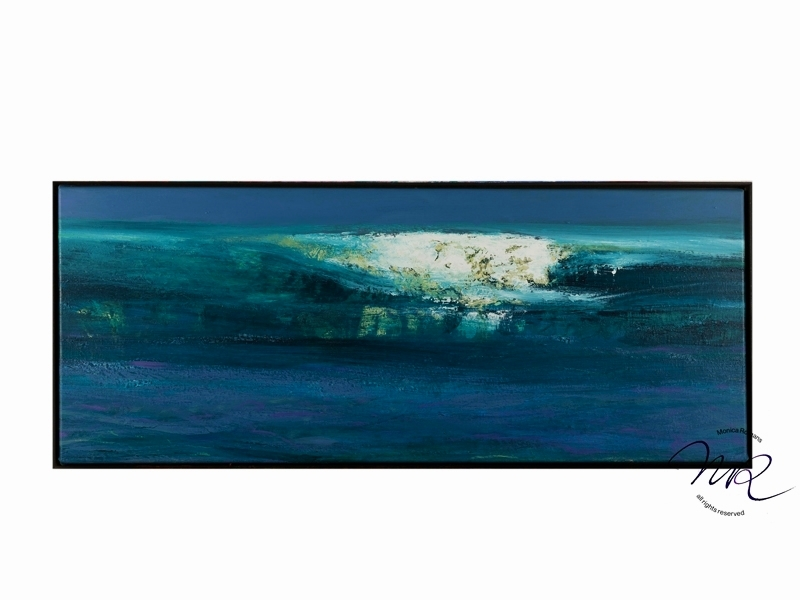 Stormy Ocean Layered oilpaint & lime on canvas, 45 x 120 cm € 6200