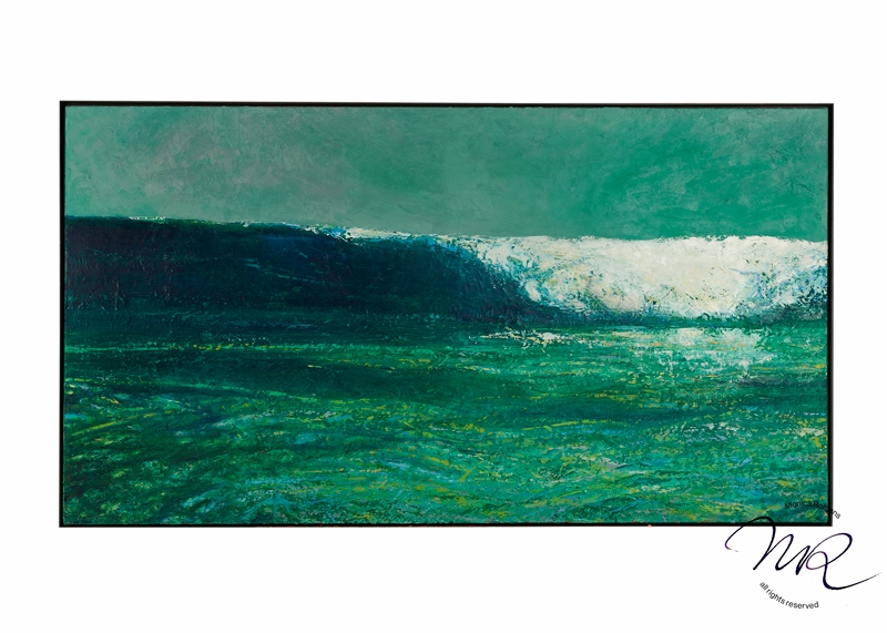 The big Surf Layered oil-paint on canvas, 90 x 160 cm, € 12.300