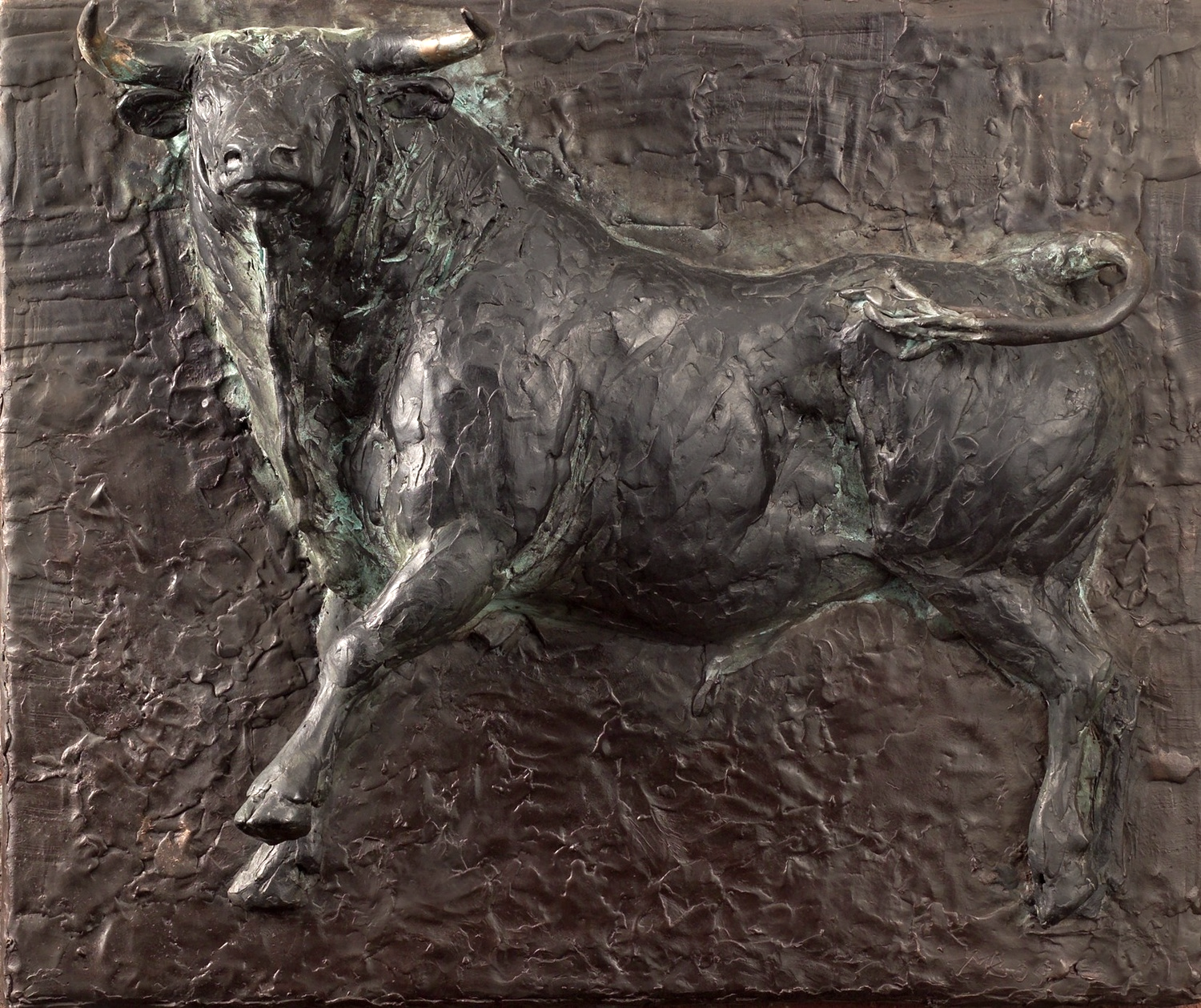 Bronze relief sculpture presented as a gift by the staff of Gosschalk & Zn