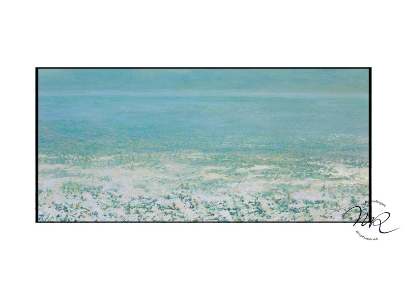 Early morning Ocean Layered oil-paint on canvas, 60 x 130 cm € 7400