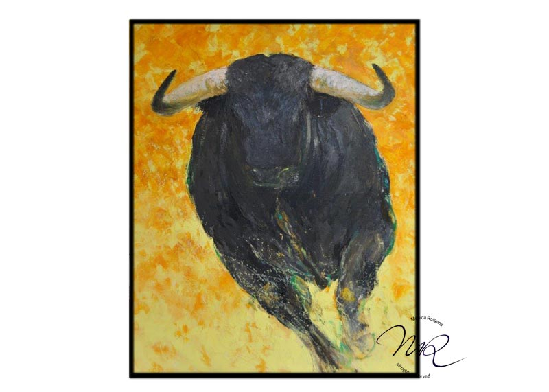 Toro 16  Oil-paint on canvas, 100 x 130 cm.  SOLD € 8500